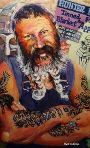 Painting by Bob Saxon