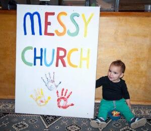 Messy Church sign