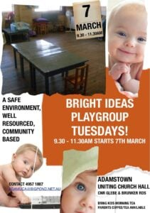 Bright Ideas Playgroup flier