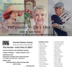 Portait Painters Hunter Exhibition flyer