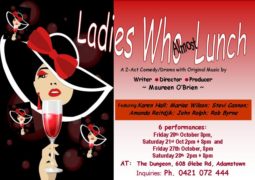 Ladies Who Almost Lunch event flier