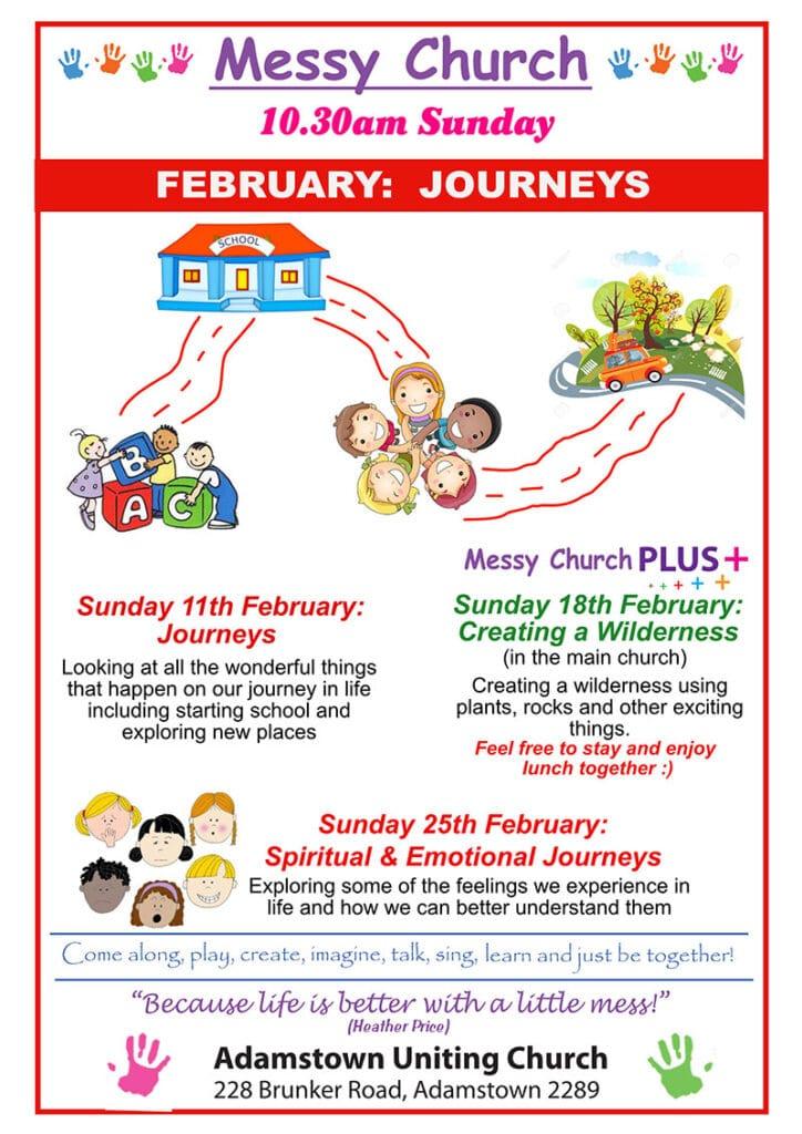 Messy Church program February 2018