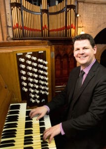 Peter Guy at organ