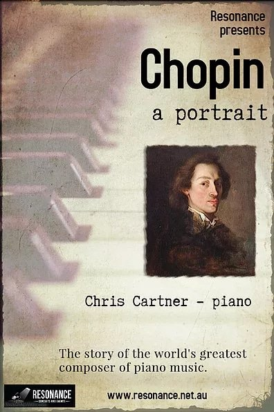 Chopin: A Portrait, concert flyer