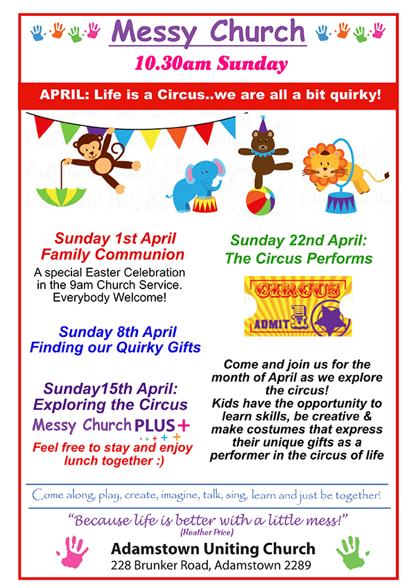 Messy Church Program April 2018