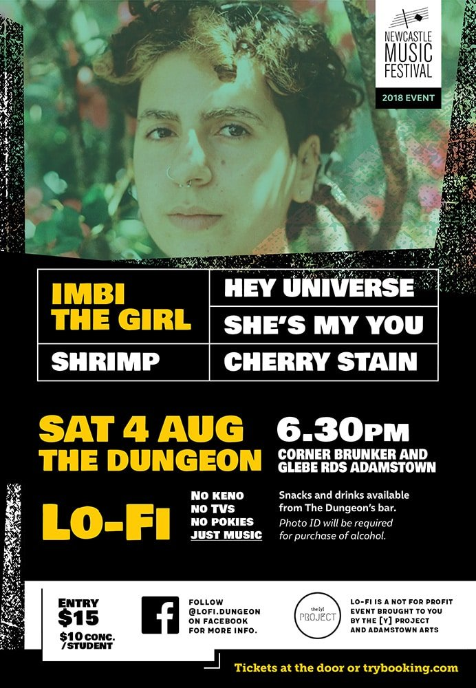 Lo-Fi poster with Imbi the Girl