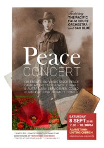 Peace concert poster