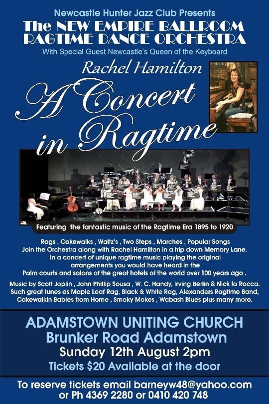 A Concert in ragtime poster