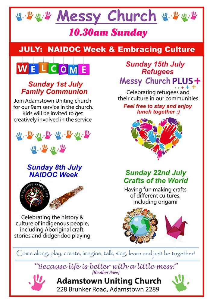 Messy July Program flier