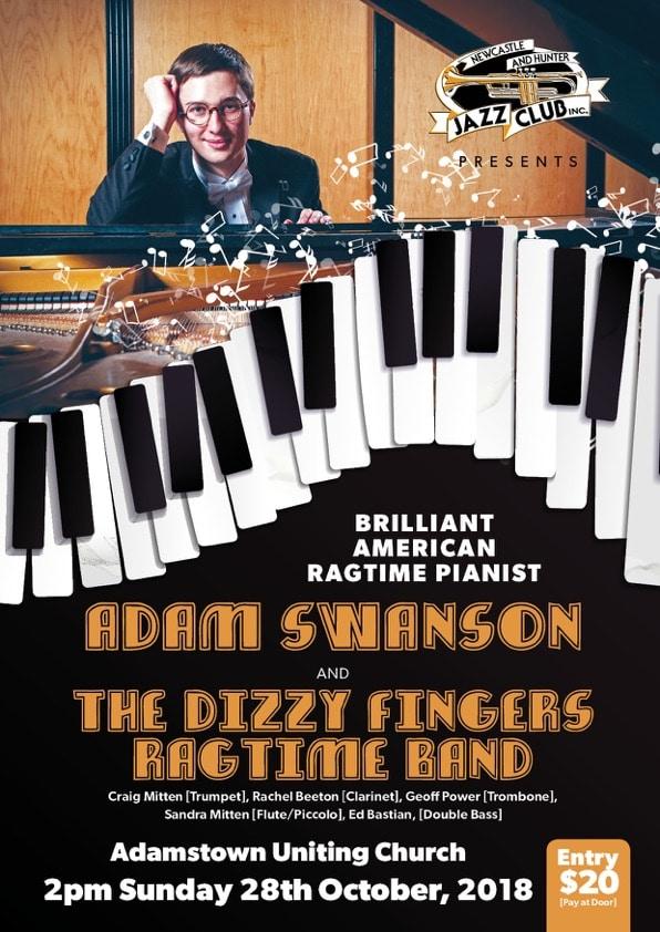 Jazz Club Ragtime A4 poster