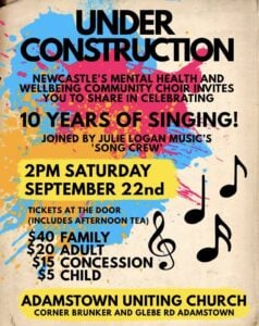 Under Construction 10 year Anniversary Concert poster