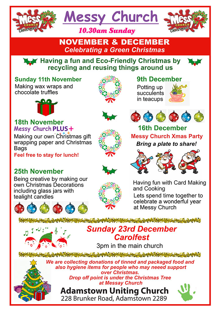 Messy Church Nov/Dec 2018 flier