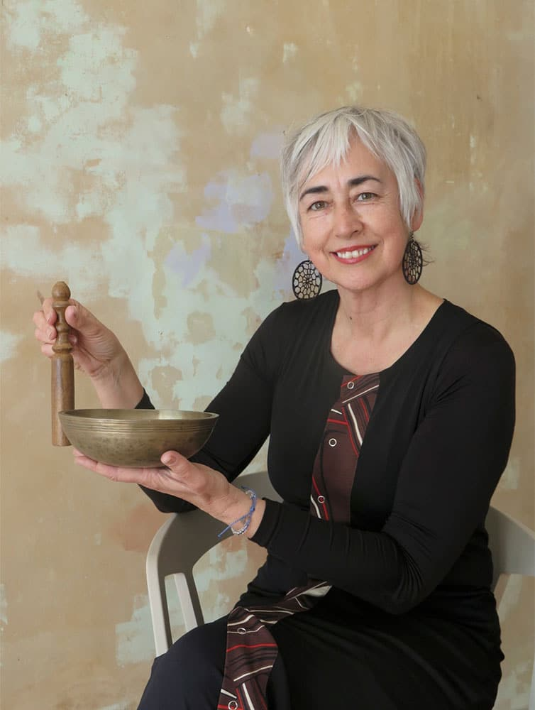 Trish Watts with Singing Bowl