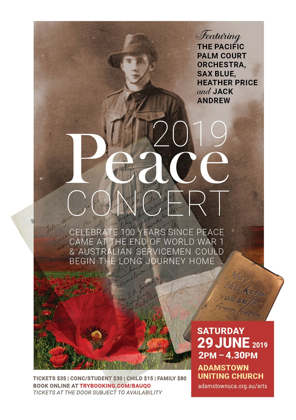Peace concert 2019 poster