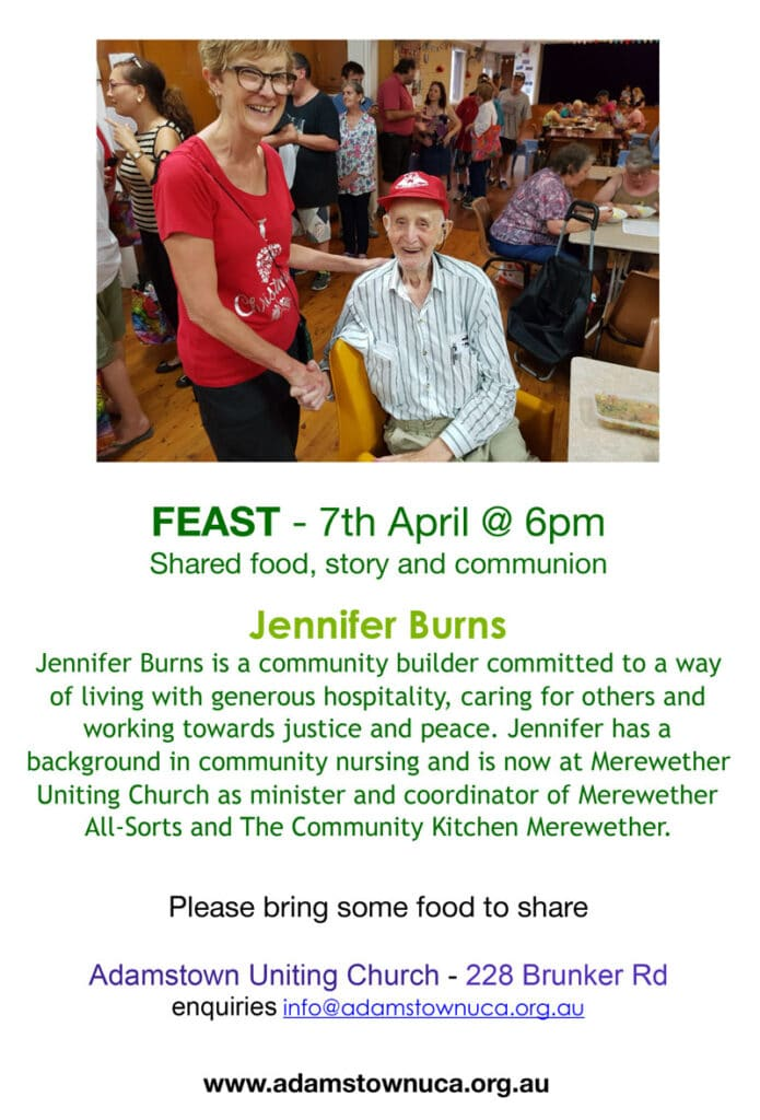 FEAST flier with Jennifer Burns