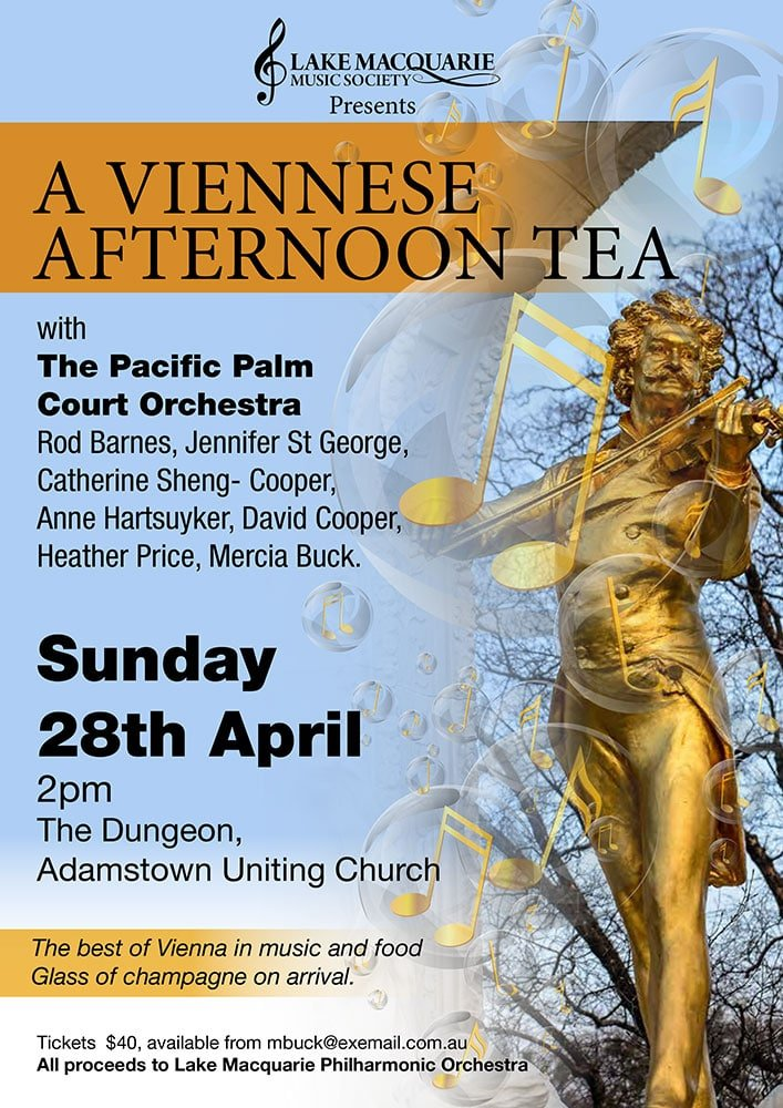 A Viennese Afternoon tea poster