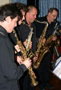 Sax Blue Jazz Quartet musicians