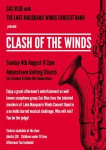 Clash of the Winds concert flier