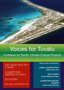 Voice for Tuvalu concert poster