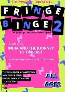 Fringe Binge 2 event poster