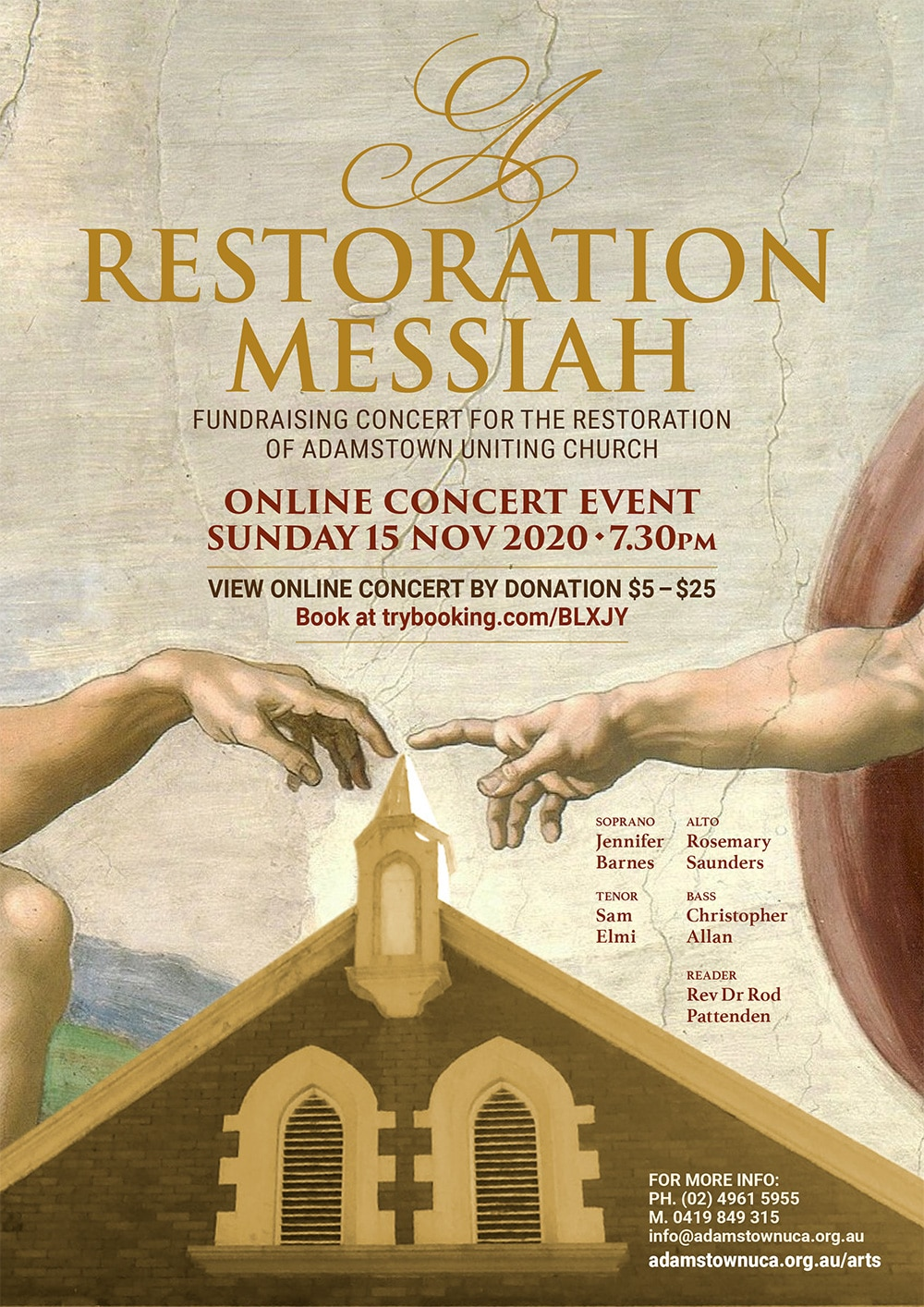 A Restoration Messiah concert poster
