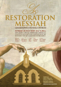 A Restoration Messiah concert poster