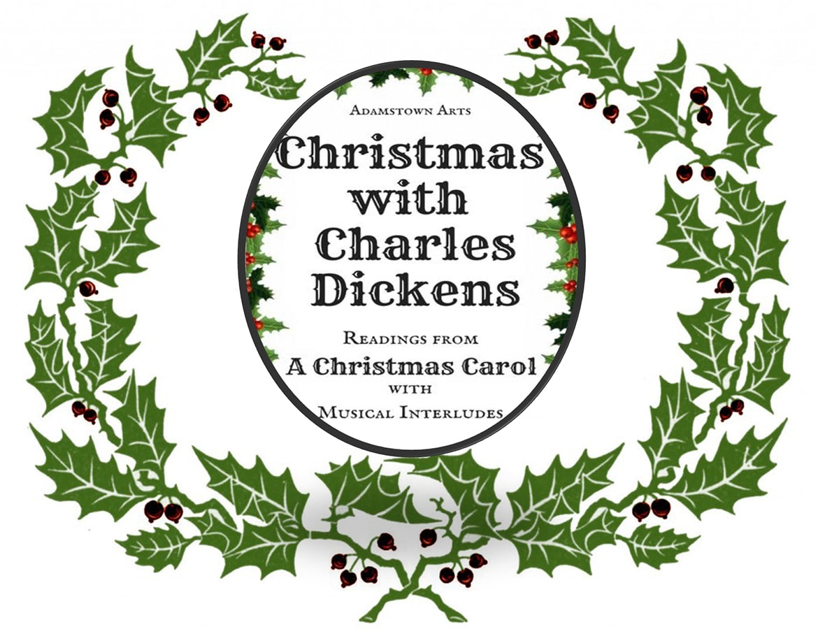 Christmas with Dickens flier – decorative holly graphic