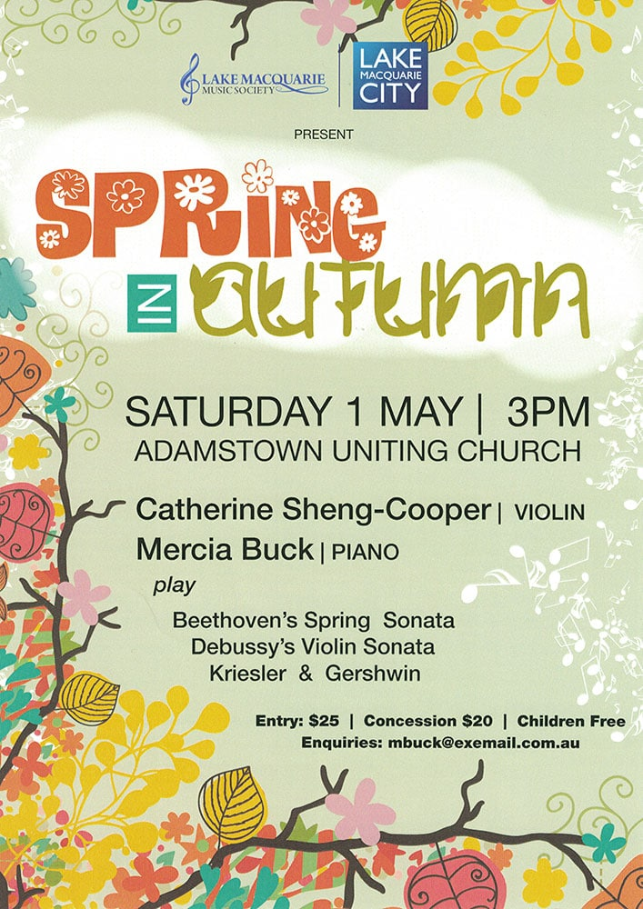 Spring in Autumn concert poster
